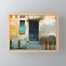 ANTIQUE CHINESE SOUND of HOI AN in VIETNAM Framed Mini Art Print