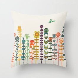 Happy garden Throw Pillow