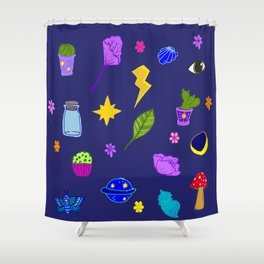 Midnight Flash Sheet Shower Curtain