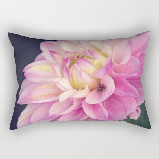 Pink sweet dahlia Rectangular Pillow