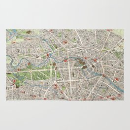 Vintage Map of Berlin Germany (1905) Rug