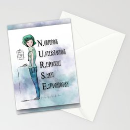 Nurse with Stethoscope Stationery Cards