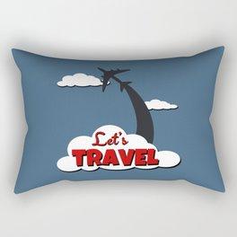 Let's travel Rectangular Pillow