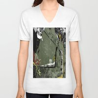 climbing V-neck T-shirts featuring Rock Climbing by Tami Cudahy