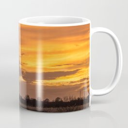 Sunset at RSPB Strumpshaw Fen Coffee Mug