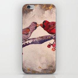 Kissing Cardinals iPhone Skin