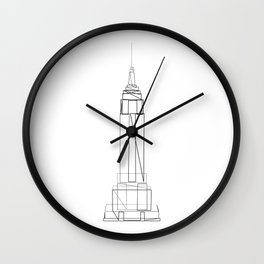 """""""Travel Collection"""" - Empire State Building Wall Clock"""