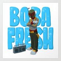 Boba Fresh Art Print