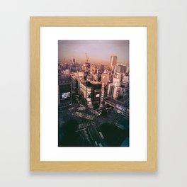 Shibuya Crossing Framed Art Print