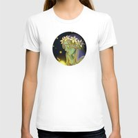 fireflies T-shirts featuring Dryad and Fireflies by Naineuh