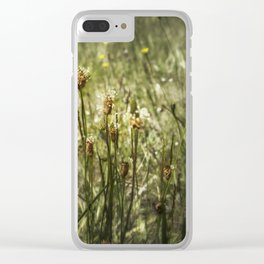 Little Weeds Clear iPhone Case