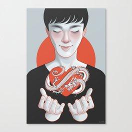 dragon heart Canvas Print