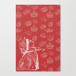 Queen of Hearts and Crowns Canvas Print