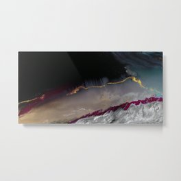 The Extasy Of Gold - Abstract landscape resin art Metal Print