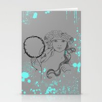 mucha Stationery Cards featuring A. Mucha by D Cisneros