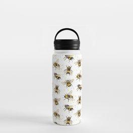 Fluffy Bumblebees (Pattern) Water Bottle