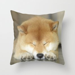 sleeping macho Throw Pillow