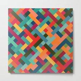 Weave Pattern Metal Print