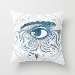 Mandala Vision Flower of Life Throw Pillow