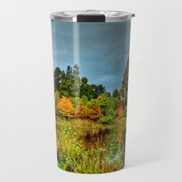 Autumn Colours Reflected in Pond Travel Mug