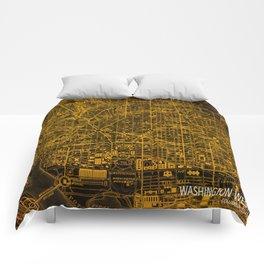Washington West Columbia map year 1945 Comforters