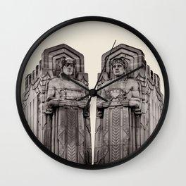 Guardians in Oatmeal Wall Clock