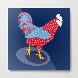 Blue Chicken Metal Print