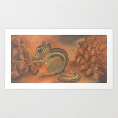 Poor thing, worked her tail right off Art Print