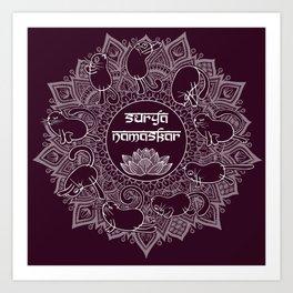 Surya namaskar Art Print