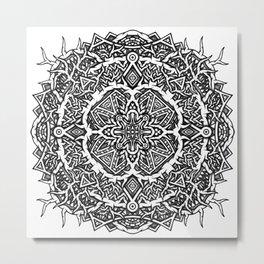 Mandala Geometric Forest Metal Print
