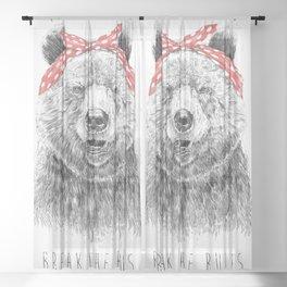 Break the rules Sheer Curtain