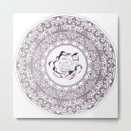 Mandala-Lotus Metal Print