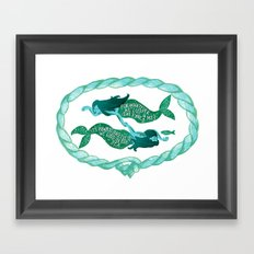 it's always ourselves we find in the sea Framed Art Print