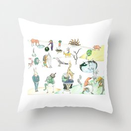 Inspired by Bosch Throw Pillow