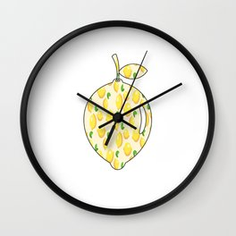 lemons within lemon Wall Clock