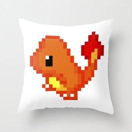 Char pixel art Throw Pillow