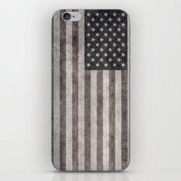 American flag, Retro desaturated look iPhone Skin