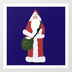 Father Christmas Art Print