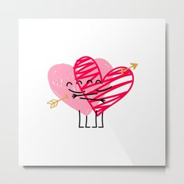 Love & Friendship Metal Print