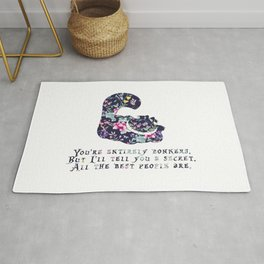 Alice floral designs - Cheshire cat entirely bonkers Rug