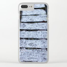 Frosty Bridge Clear iPhone Case