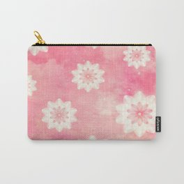 Pink sky and flowers Carry-All Pouch