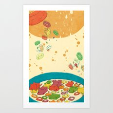 HIPPO CEREAL Art Print