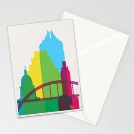 Shapes of Austin. Accurate to scale. Stationery Cards