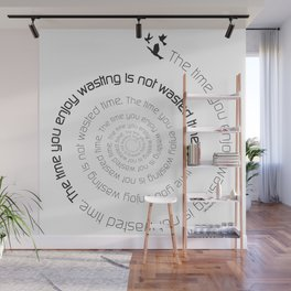 Inspirational quote digital art print - The time Wall Mural