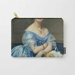 Portrat of the Princess In Blue Carry-All Pouch