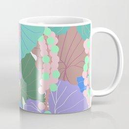 Elephant Ear Leaves + Sea Grapes in Muted Pastel Coffee Mug