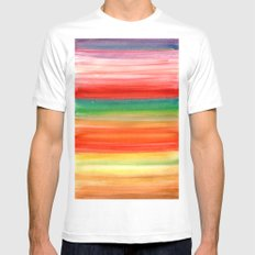 Autumn Ombre  MEDIUM White Mens Fitted Tee