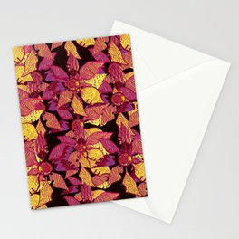 The Golden Petals- Metallic Decoupage Stationery Cards