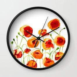 Poppy Sunrise Wall Clock